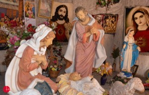 La Sainte-Famille, représentée dans la chapelle du Centre Mar Elia.