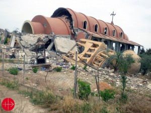 Syria, May 2015 St. Mary Assyrian Church in the village of Tal Nasri, Khabour region. The church was exploded and damaged by ISIS as they controlled the village.