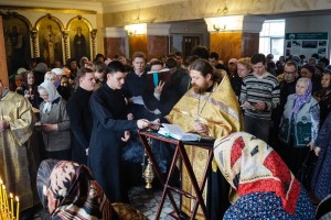 RUSSIA / BELGOROD-ORT 15/00036 Education grant for 111 students at the seminary in Belgorod for the akad. year 2015/2016: Liturgy at Orthodox Seminary Belgorod