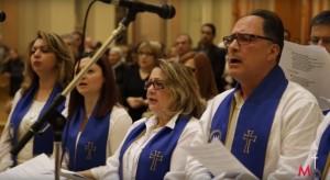 La chorale syriaque catholique de l'église Saint-Éphrem de Laval (source: capture d'écran, diocèse de Montréal/Sel et Lumière Télé)